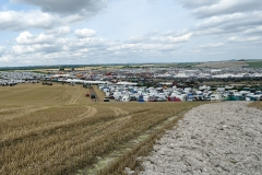 View from 'Michael Oliver Hill' over the Great Dorset Steam Fair 2018.