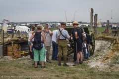 Authentic replica WW1 Western Front trench system at the Great Dorset Steam Fair 2016.