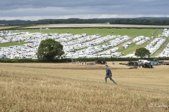 Overlooking the caravans at the Great Dorset Steam Fair 2017.