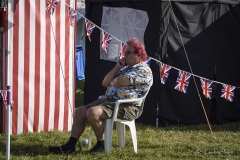 Professor Pete Milsom's traditional seaside Punch and Judy show at the Great Dorset Steam Fair 2017. The Prof takes a rest.