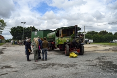 Steam lorry at Drusilla's Inn, Horton, Dorset. En route to the Great Dorset Steam Fair (aka The National Heritage Show) at Tarrant Hinton, Dorset.