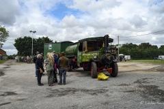 Steam lorry at Drusilla's Inn, Horton, Dorset. En route to the Great Dorset Steam Fair (aka The National Heritage Show) at Tarrant Hinton, Dorset.