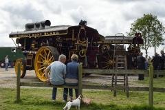 Showman's engine at Drusilla's Inn. En route to the Great Dorset Steam Fair (aka The National Heritage Show) at Tarrant Hinton, Dorset.