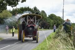 A Showman's engine leaving Drusilla's Inn. En route to the Great Dorset Steam Fair (aka The National Heritage Show)