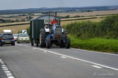 Tractor en route to the Great Dorset Steam Fair (aka The National Heritage Show) at Tarrant Hinton, Dorset.