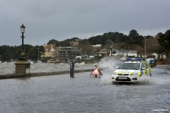 Flooding at Shore Road, Sandbanks, Poole, Dorset.