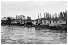 Flooding at Iford Bridge Home Park, January 2014.