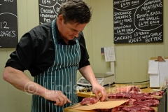 Steve Soutar of Soutars Fine Meats, Lower Parkstone. Photo taken February 2013.