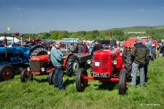 Tractors at Three Okefords Preservation Society Ltd steam rally, Dorset, 2015.