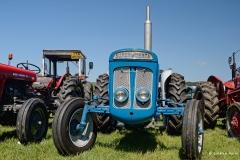 Super Dexta steam tractor at Three Okefords Steam Rally 2015.