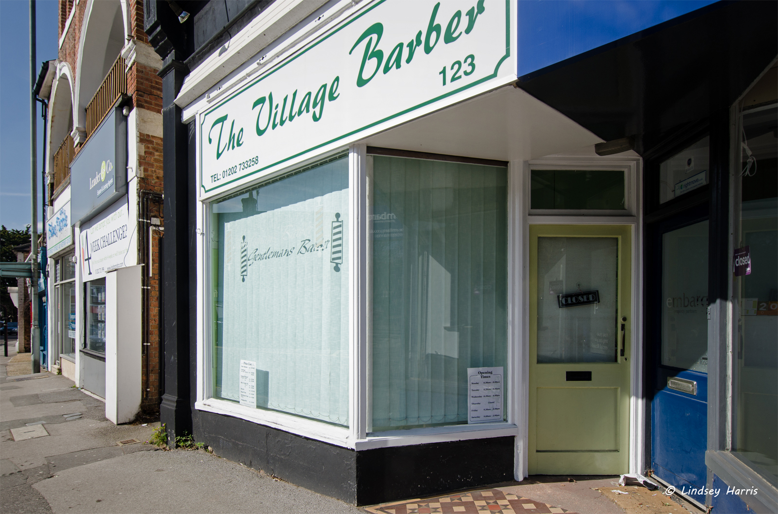 The Village Barber, Lower Parkstone (NO LONGER TRADING - 2017).
