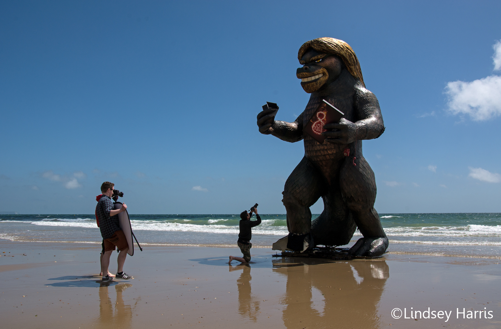 #BigKahunaSpotted – Richard Branson 'monster' on the beach at Bournemouth, Dorset