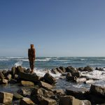 Antony Gormley's 'Land' Statue, Kimmeridge, Dorset