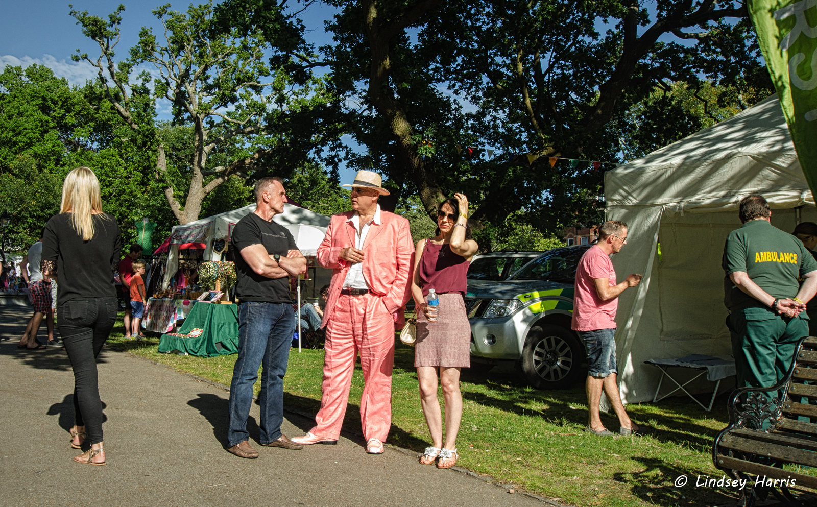 Man in a pink suit