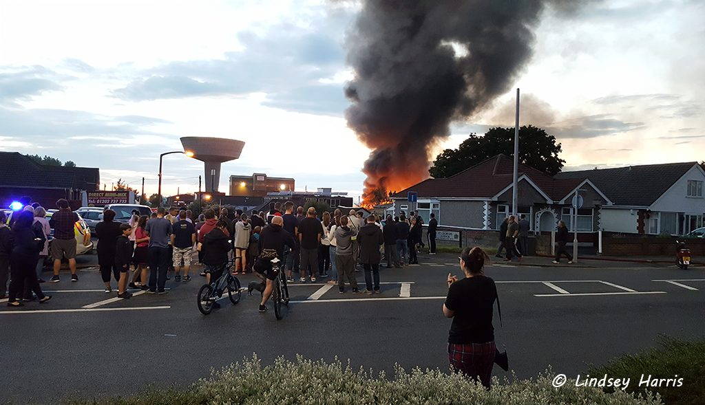 Fire at Charles Trent scrapyard, Poole, Dorset. 17th June 2016.