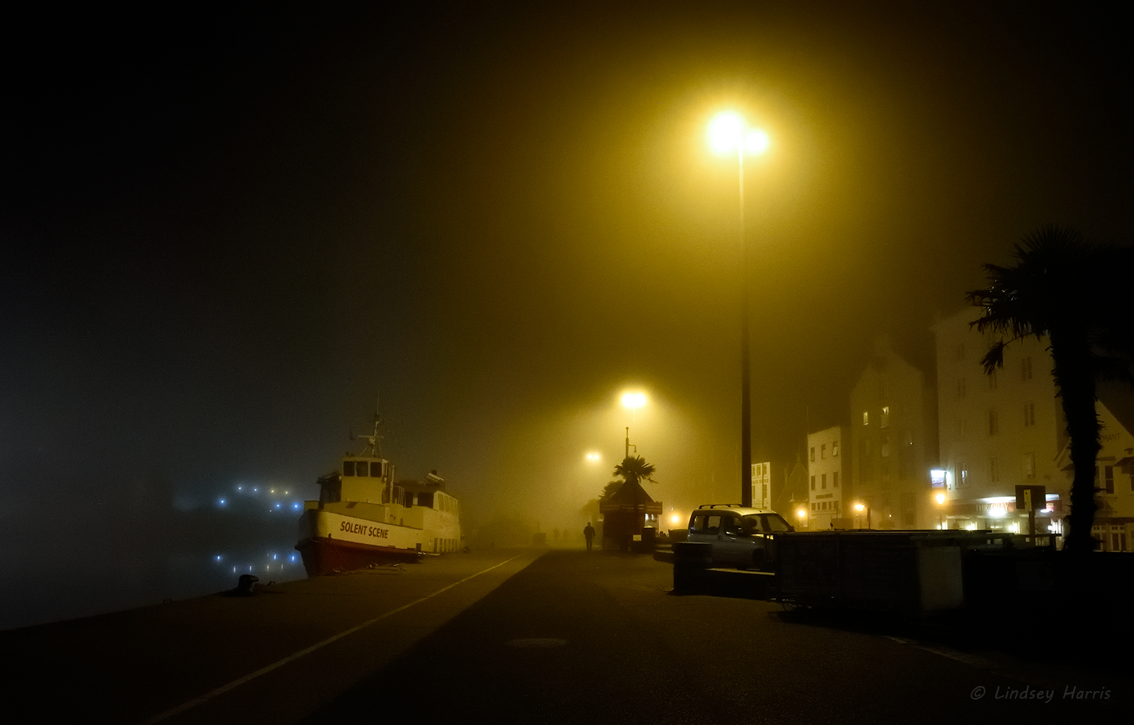 Foggy Evening at Poole Quay