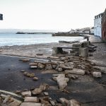 Sea Wall Damage Swanage Seafront by 'Storm Angus'