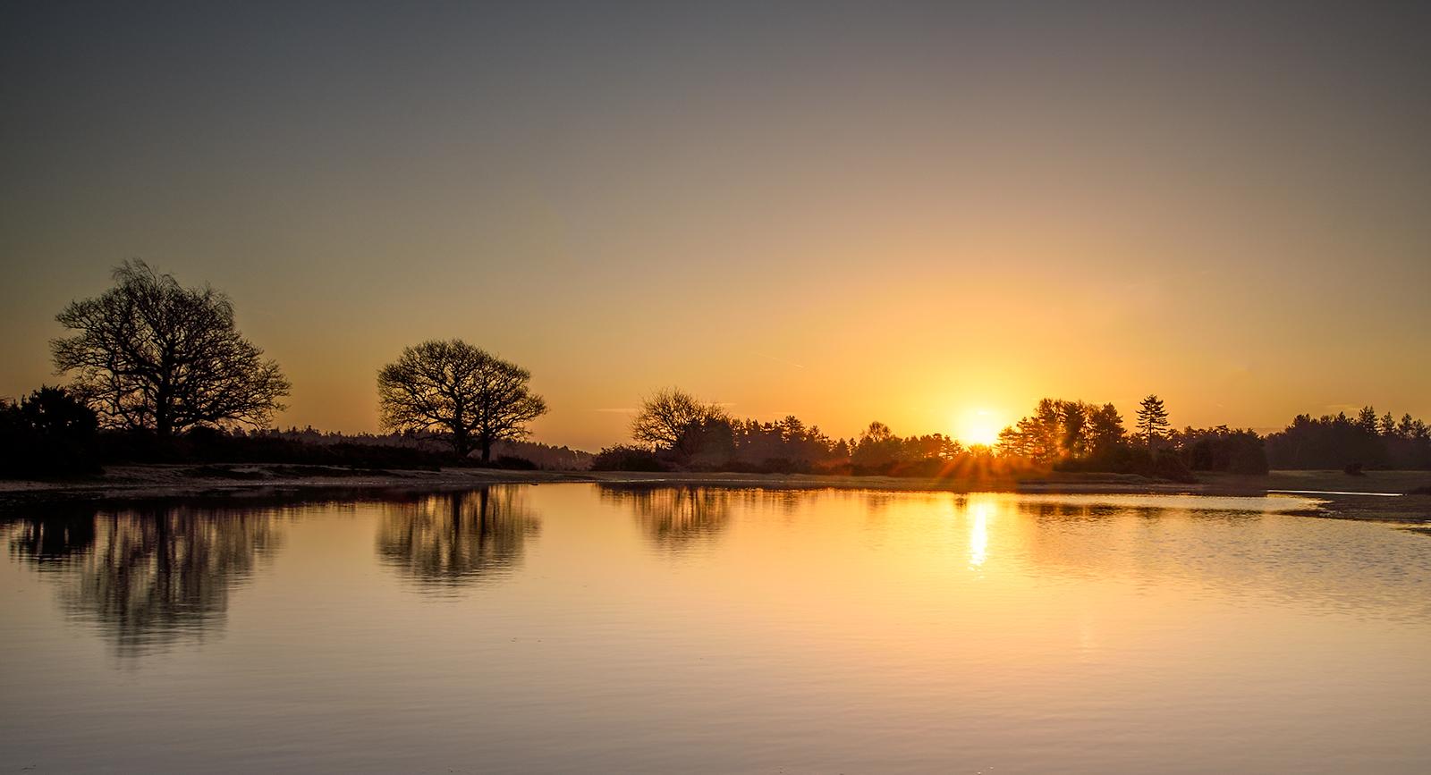 Sunrise Mogshade Pond, 2nd January 2017