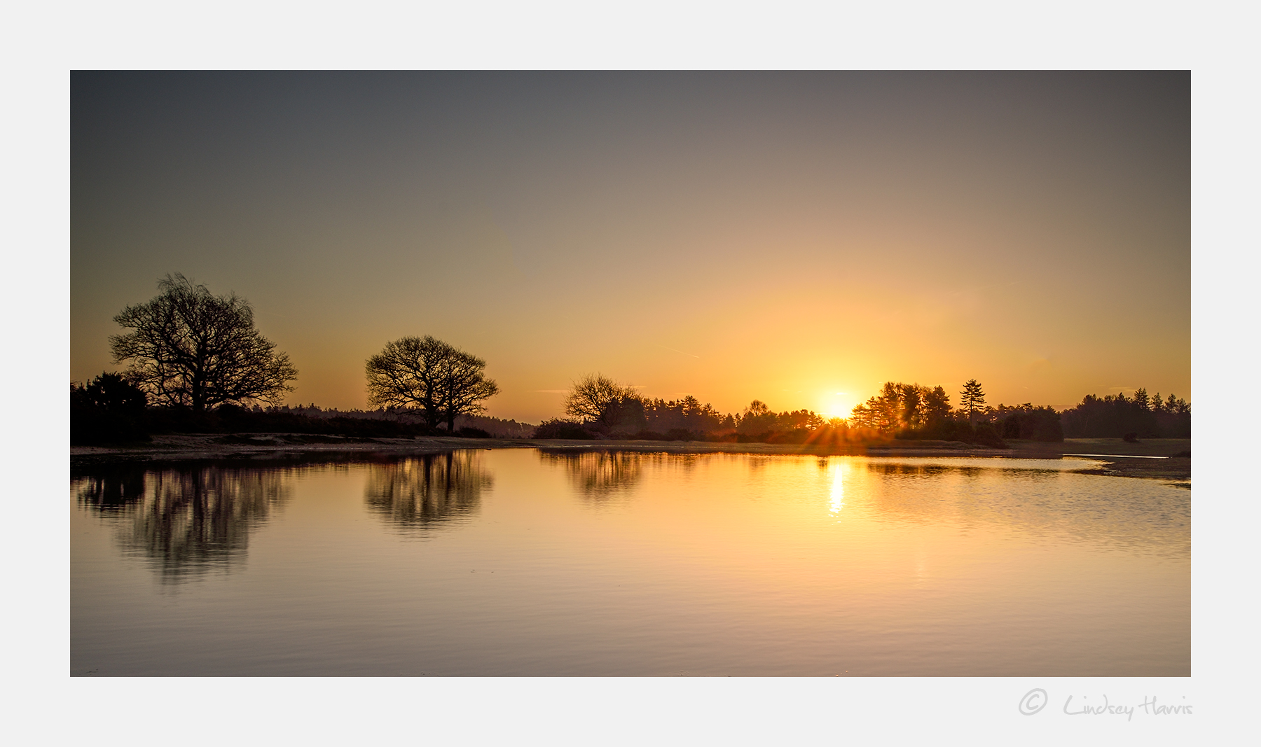 Sunrise at Mogshade Pond, New Forest - 2nd January 2017.