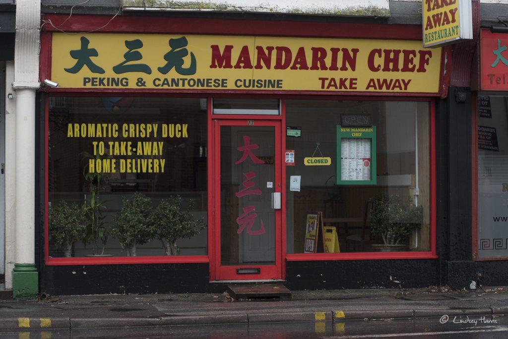 The Mandarin Chef , Lower Parkstone. Photo taken in December 2017.