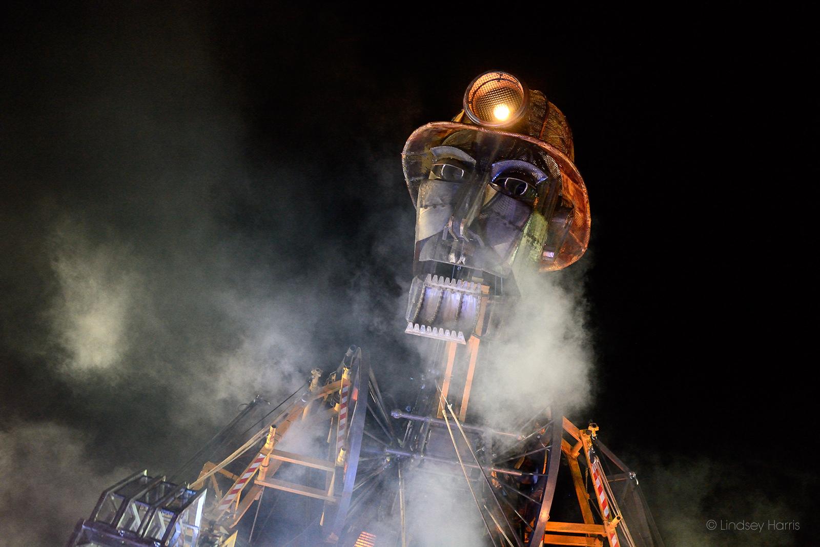 Man Engine at Radstock, Somerset. 6th April 2018.