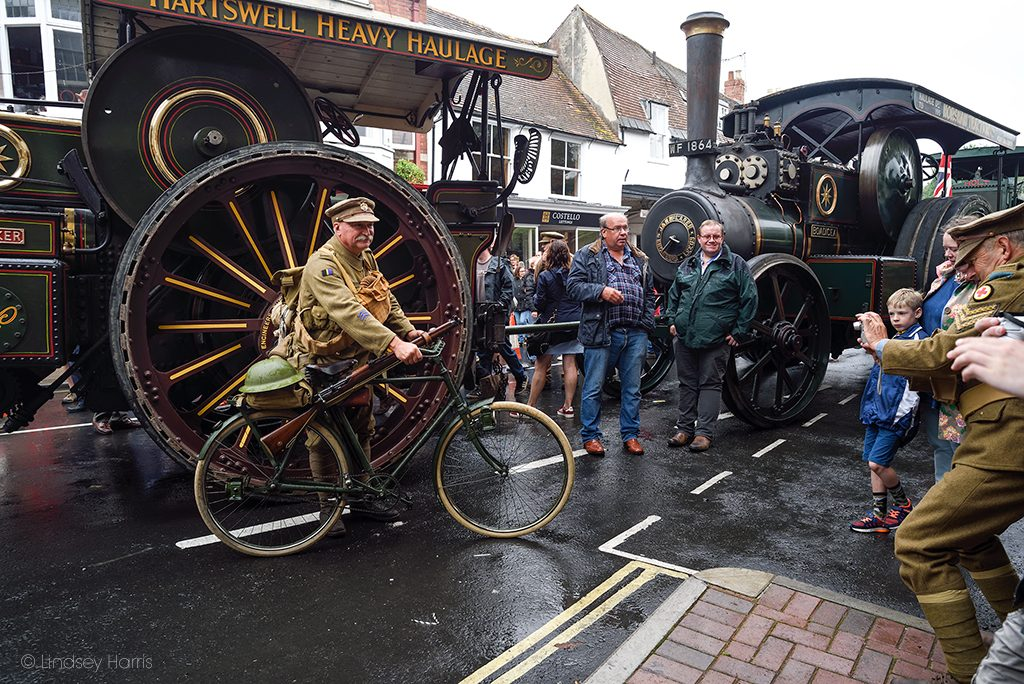 The WW1 Homecoming Parade at Blandford Forum, Dorset. En route the Great Dorset Steam Fair 2018.