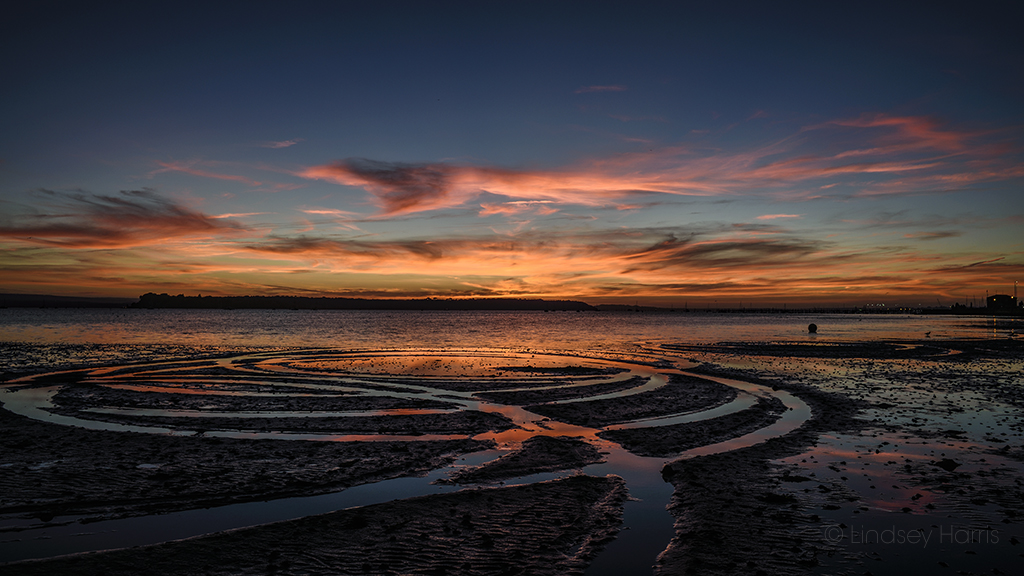 Stunning sunset at Sandbanks & Poole Harbour