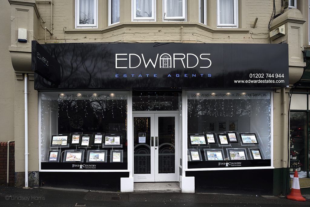 Edwards estate agents, Lower Parkstone, Poole.