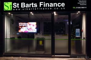 St Barts Finance, Lower Parkstone. Photo taken Christmas Day 2018.