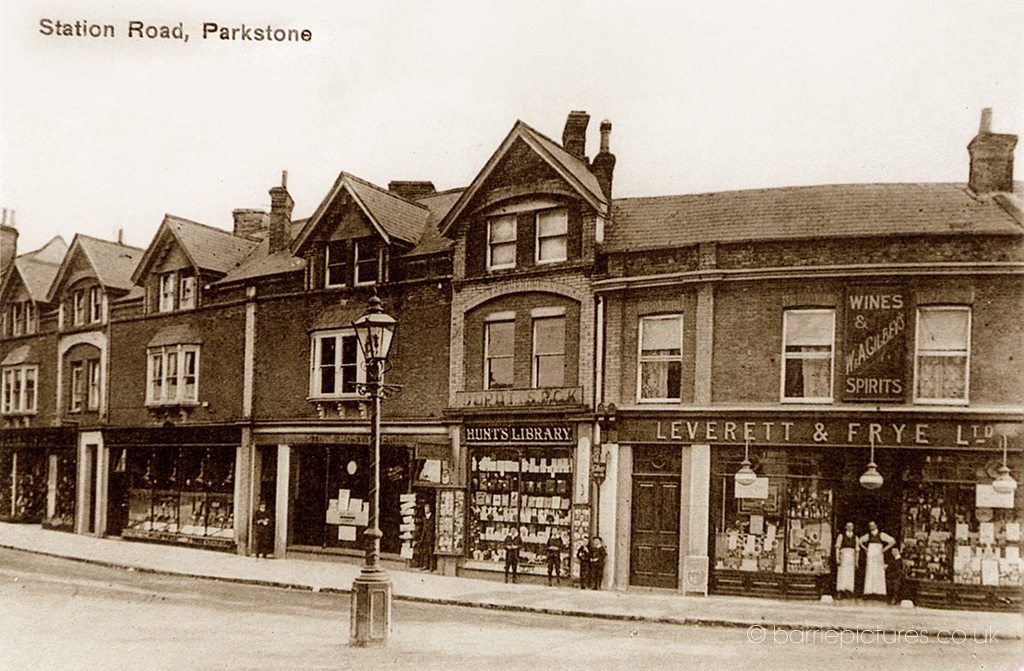 Station Road, Lower Parkstone in 1910.