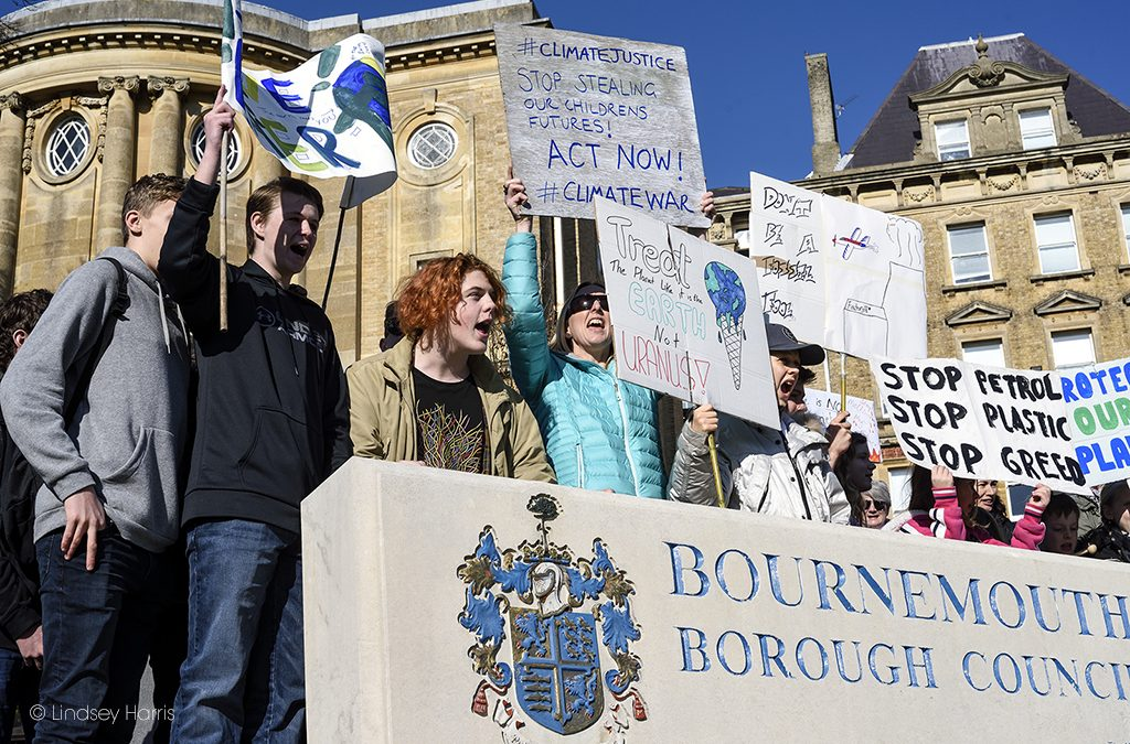 Youth Strike 4 Climate Bournemouth Protest
