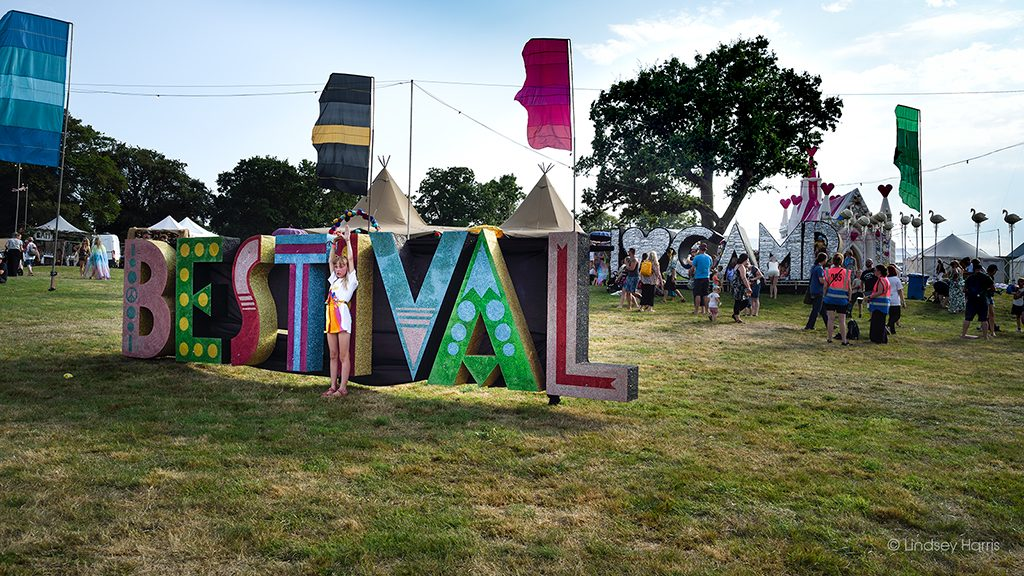 Photo of Camp Bestival sign.