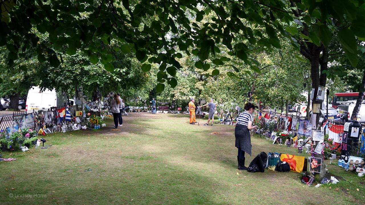 George Michael Memorial Garden, Highgate, London. August 2017.