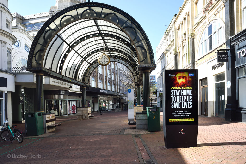 Bournemouth: Old Christchurch Road during the coronavirus lockdown.