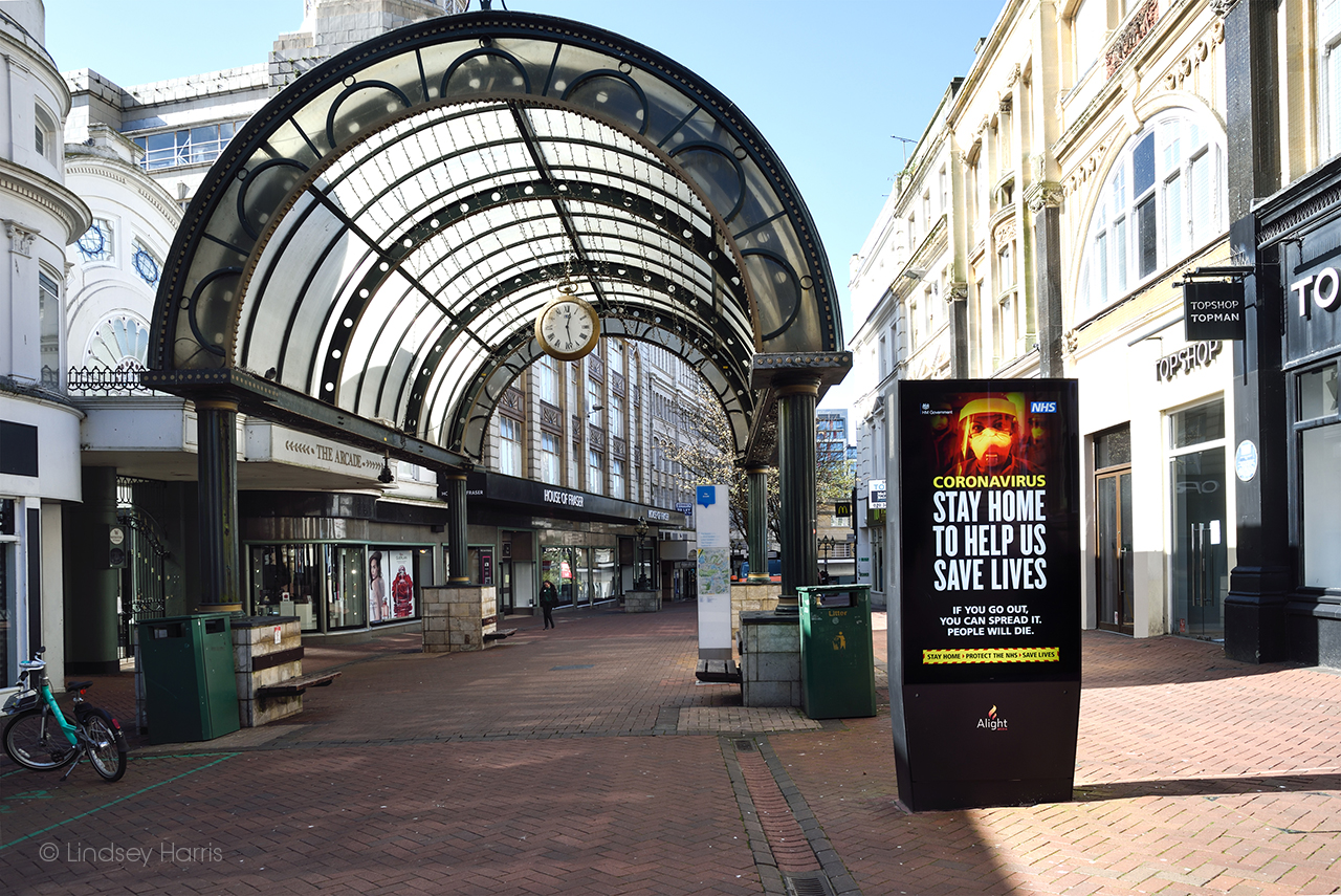 Bournemouth: Old Christchurch Road during the March 2020 lockdown.