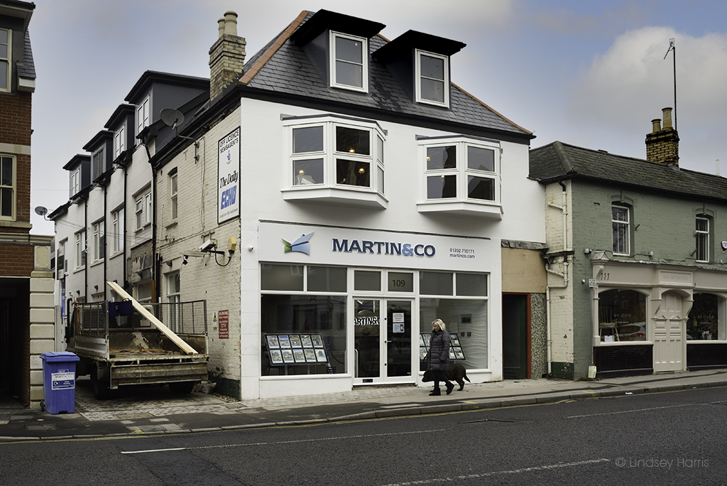 Martin & Co estate agents in January 2021, where Spar used to be.
