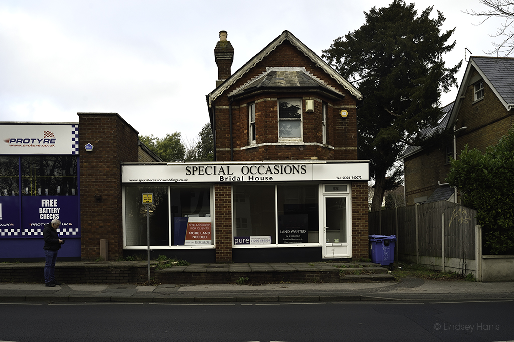 Special Occasions Bridal House, Commercial Road, Lower Parkstone, Poole. January 2021.