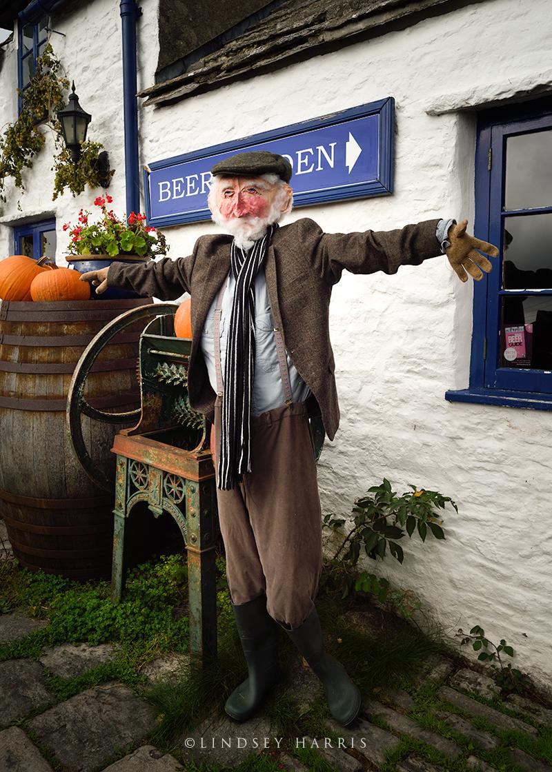 A scarecrow at the Square & Compass pub, Worth Matravers, Dorset.