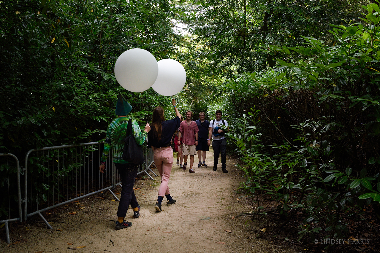 Giant balloons in the woods at End Of The Road Festival 2021.