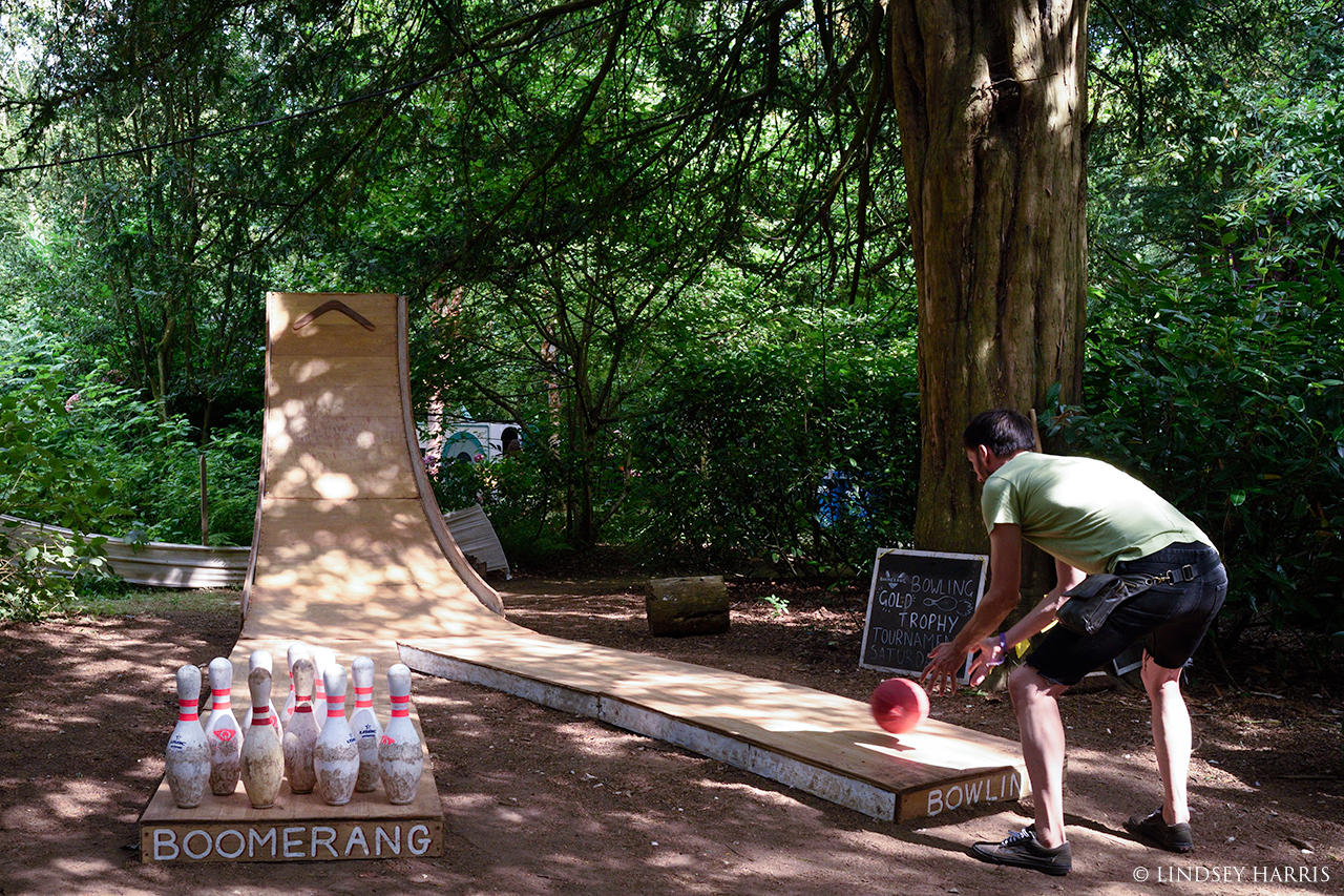Ten pin bowling at End Of The Road Festival 2021.