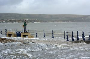 The high tide at Swanage, Dorset