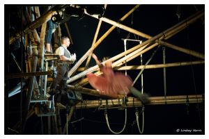 cirkVOST's 'BoO' TrapezeShow - at Poole Park, Poole, Dorset, UK