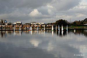 The Boating Lake at Poole Park, Poole. Dorset.