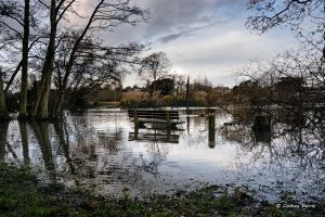 Flooding at Poole Park, Poole. Dorset
