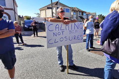 Protesting against BCP Council's temporary road closures at Stanley Green.