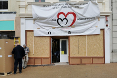 A ray of hope - a new store prepares to open in Bournemouth town centre.