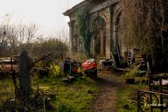 Scrapyard at old mansion.