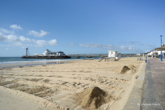 Bournemouth Pier & beachfront during COVID-19 lockdown.