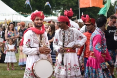 Rajasthan Heritage Brass Band at Camp Bestival 2019.