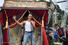 Freddie Mercury impersonator at Camp Bestival 2019. (Caravan of Lost Souls)